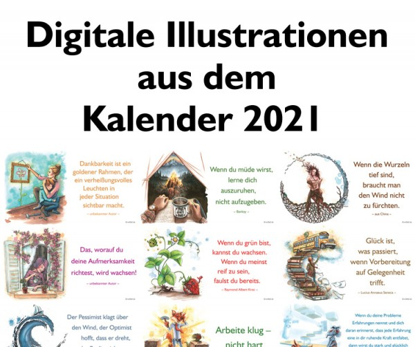 Digitale Illustrationen: entfalt-Kalender 2021