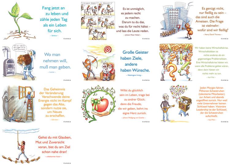 Digitale Illustrationen entfalt-Kalender 2015