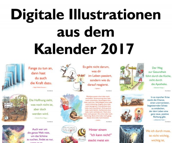Digitale Illustrationen: entfalt-Kalender 2017