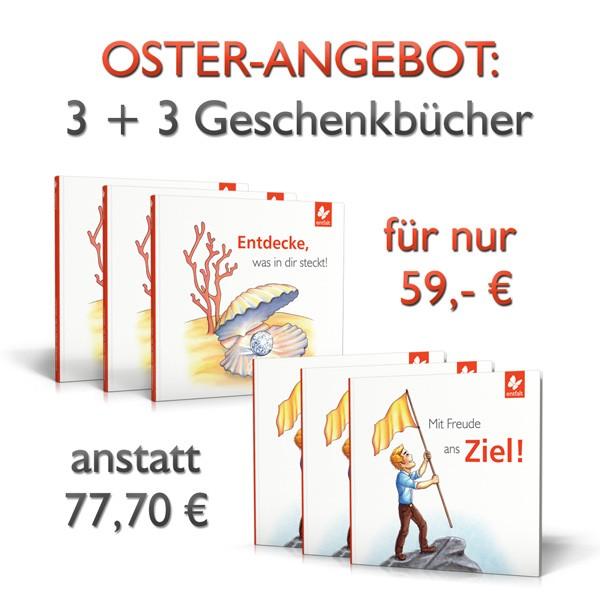 Osterangebot: 3 + 3 Geschenkbücher