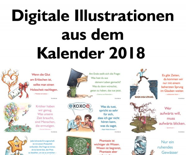 Digitale Illustrationen: entfalt-Kalender 2018
