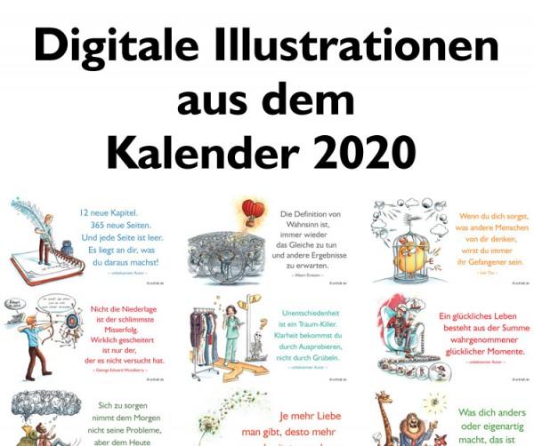 Digitale Illustrationen: entfalt-Kalender 2020
