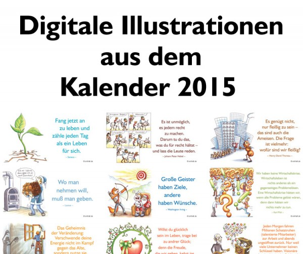 Digitale Illustrationen: entfalt-Kalender 2015