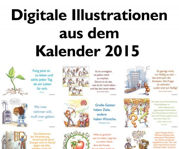 Digitale Illustrationen: entfalt-Kalender 2015
