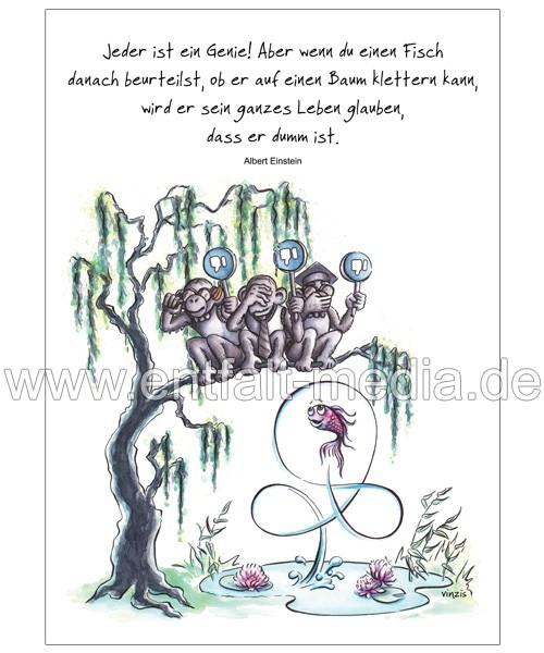 Postkarten: Jeder ist ein Genie