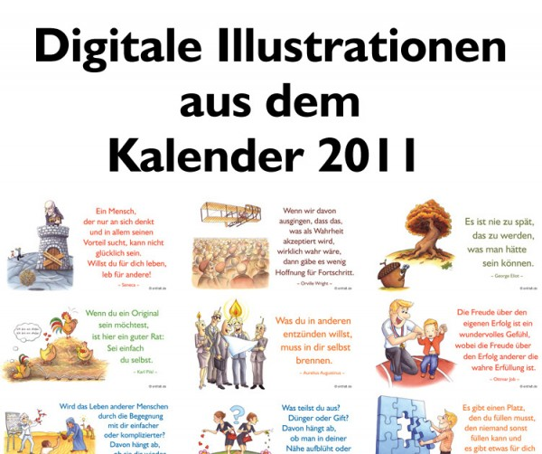 Digitale Illustrationen: entfalt-Kalender 2011