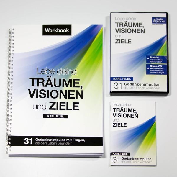 Workbook-Set: Lebe deine Träume, Visionen und Ziele