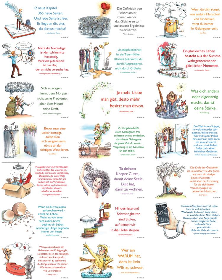 Digitale Illustrationen entfalt-Kalender 2020