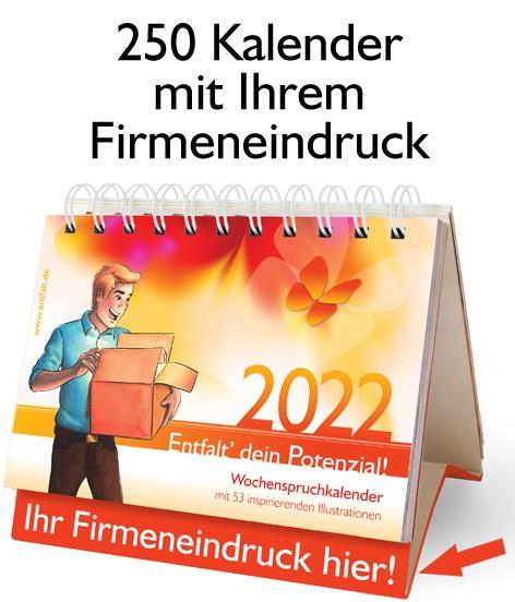 Paket: 250 Kalender 2022 mit Ihrem Firmeneindruck
