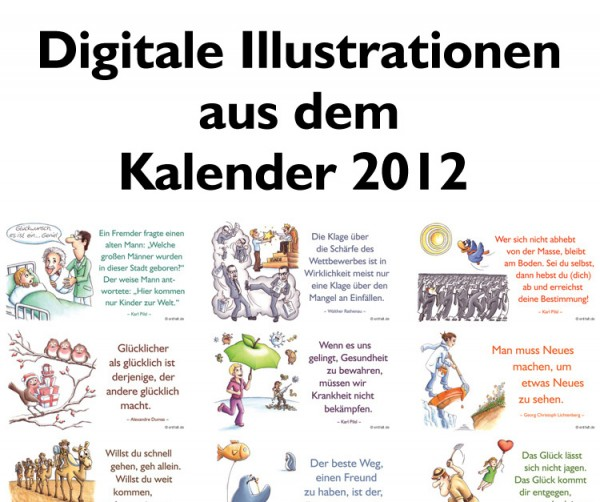Digitale Illustrationen: entfalt-Kalender 2012