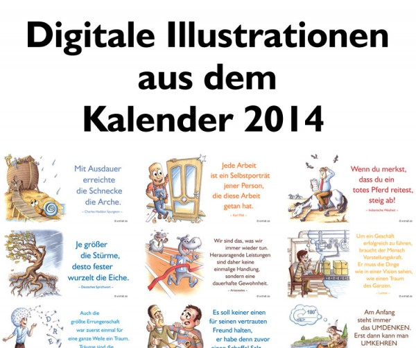 Digitale Illustrationen: entfalt-Kalender 2014