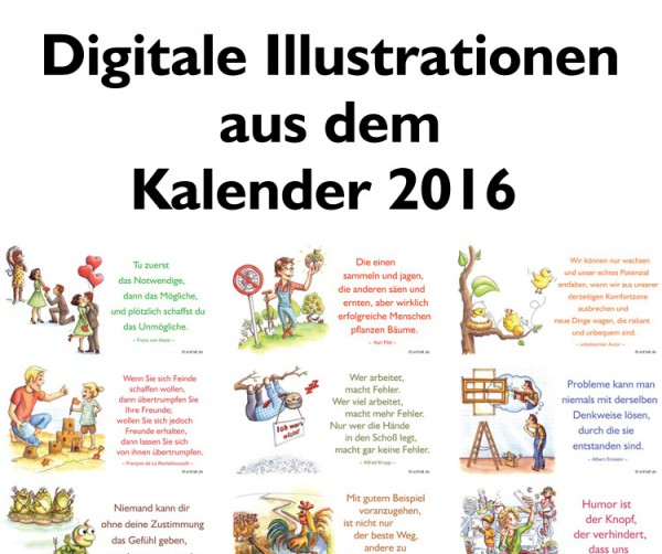 Digitale Illustrationen: entfalt-Kalender 2016