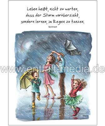 Postkarten: Im Regen tanzen