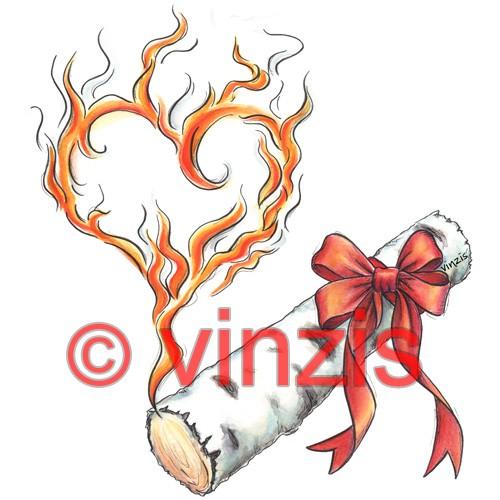 Original-Aquarell: Entfache das Feuer