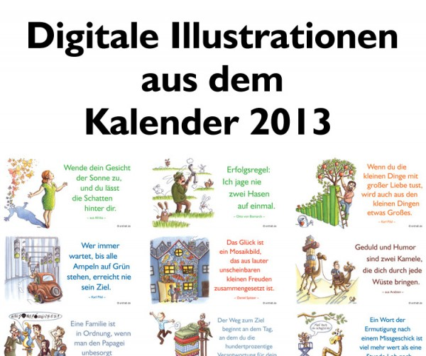 Digitale Illustrationen: entfalt-Kalender 2013