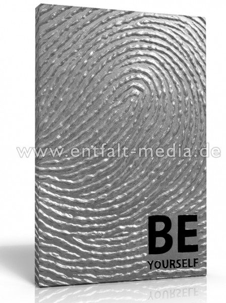 Leinwanddruck: Be Yourself (Fingerabdruck)